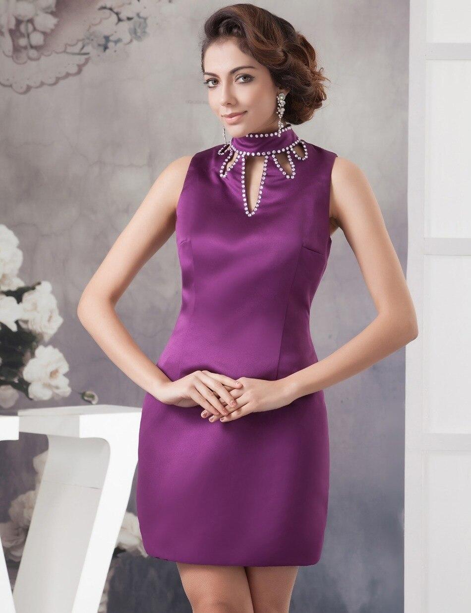 Baratos Vestidos de cóctel 2017 Vestidos de Cuello Alto Con Cuentas ...