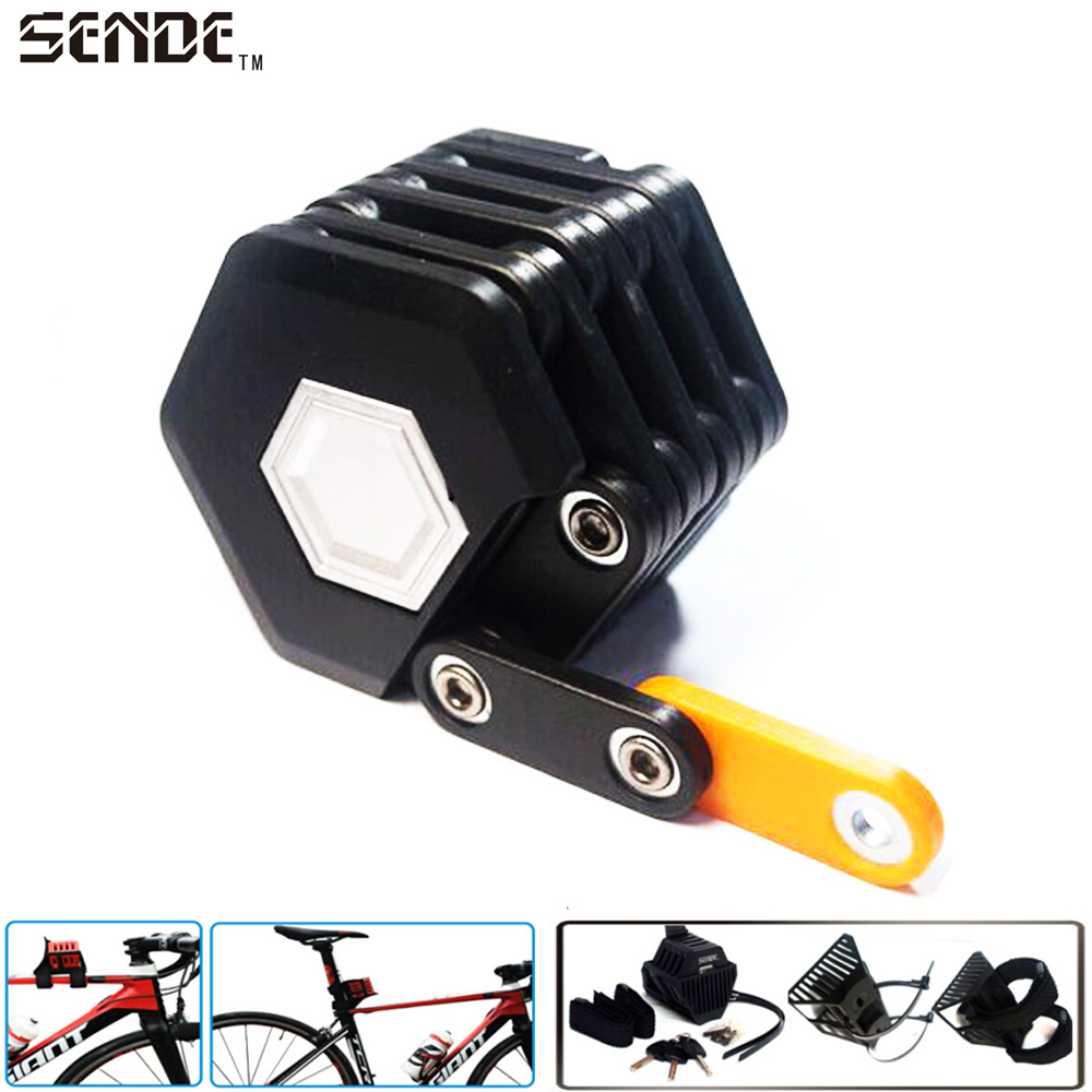 цена на SENDE Bicycle Lock Anti-theft Bike Lock Professional Foldable Hamburg-Lock Bicycle Cycling Bike Locks Bicycle Parts