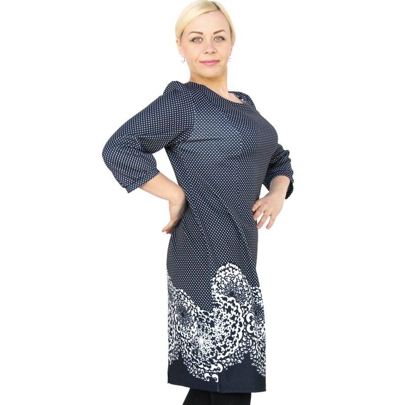 ab59acc92f3d Bfdadi 2016 plus size elegante ufficio vestiti donna casual o collo retro  modello di puntino hem dress donna marchio di abbigliamento 7 3564 in Bfdadi  2016 ...