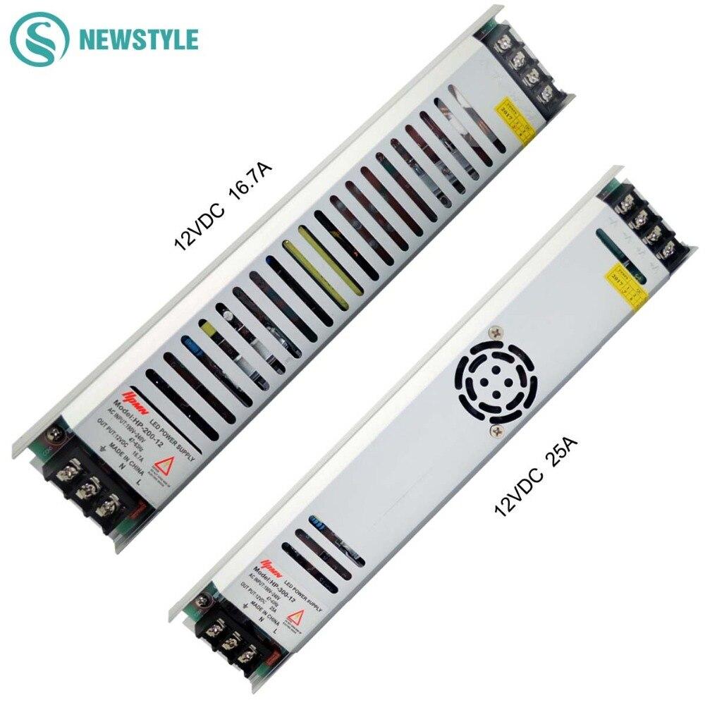 Led di alimentazione DC12V 60 W 100 W 150 W 200 W 300 W Led Driver Trasformatori di Illuminazione AC190-240V per Luce di Striscia del LED