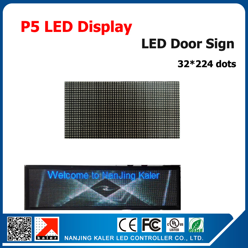 TEEHO Indoor Led Display Sign P5 SMD Full Color 229*37cm Led Display Board With Video Card 320*160mm P5 Led Moudles
