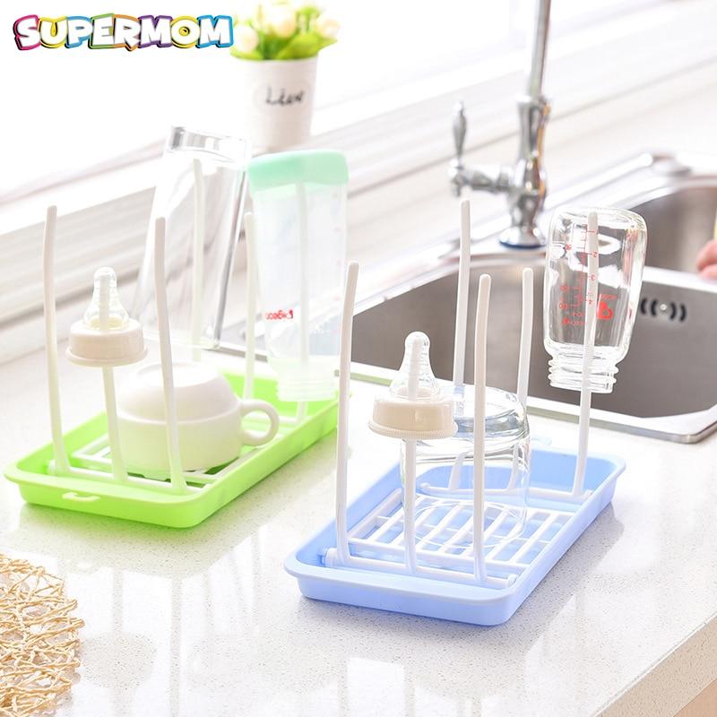 Baby Bottle Drying Rack Toddler Feeding Bottle Holder Healthy Bottle Drainer Pacifier Holder Cleaning Drying Rack Feeding Tools