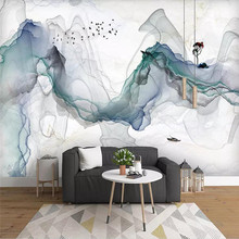 Artistic concept abstract ink landscape background wall decoration painting professional production mural custom photo wallpaper