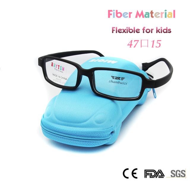 ZBZ Nuevas Monturas de Gafas Para Niños Chicas Chicos Fexible De Fibra De Vidrio Irrompible con Correa 47 Tamaño