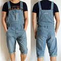 2015 Summer Fashion New Plus Size S M L XL XXXL XXXXL 5XL Denim overalls for Men Jeans Loose Mens Bib Overalls Jeans Shorts Men