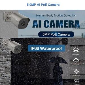 Image 2 - Techage 4CH 5MP POE NVR Camera System AI Camera Two way Audio IP Camera Outdoor Waterproof CCTV Video Security Surveillance Kit