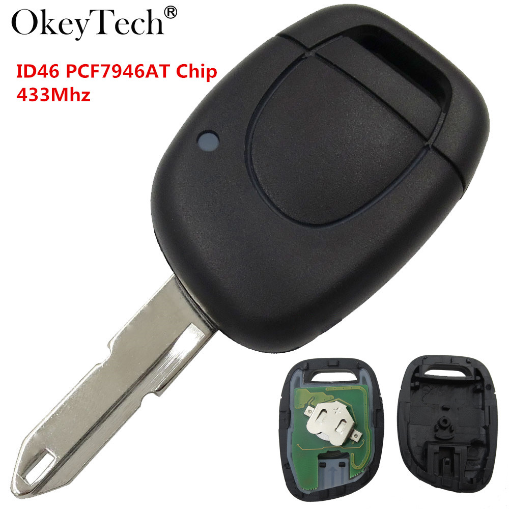 Okeytech 1 Button Remote Car Key For Renault Clio Twingo