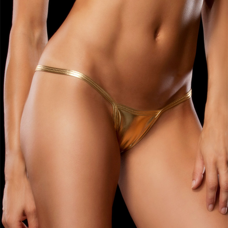 Buy Shiny G-Strings Plus Size sexy briefs Women Sexy thongs Sexy Leather Panties Leather G-Strings artificial leather thongs