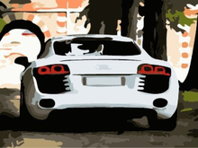 "DIY Painting By Number – White Car (16""x20"" / 40x50cm)"