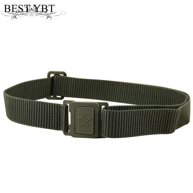 Best YBT Unisex Canvas Belt Plastic Buckle Outdoor Military Training Men Belt Youth Students Sport Cowboy Casual Canvas Belt