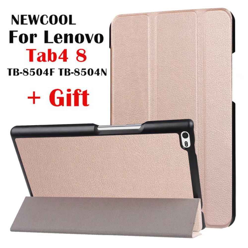 For Lenovo Tab 4 8 TB-8504x pu Leather case smart Cover for Lenovo TAB4 8 TB-8504F TB-8504 TB-8504N tablet case Flip Cover magnetic stand smart pu leather cover for lenovo tab 4 8 tb 8504f 8504n 8 0 tablet funda case free screen protector stylus pen