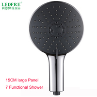 LF86011 150MM Rainfall Shower Head Shower Hanldest Head watering hand shower nozzle on the shower system
