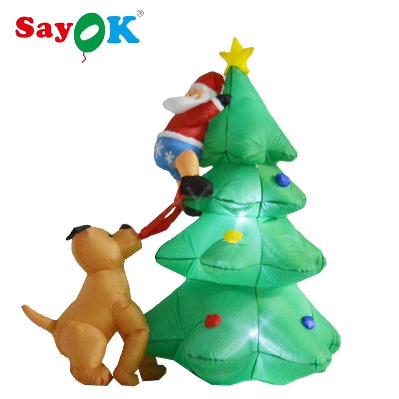 6 Fuß aufblasbare weihnachtsbaum mit Weihnachtsmann Klettern auf von ...