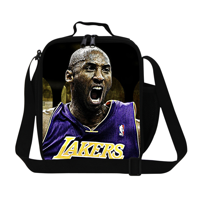 Hot Kobe print thermal lunch bag for boys school,cool work lunch bags for adults,mens James lunch container with bottle holder