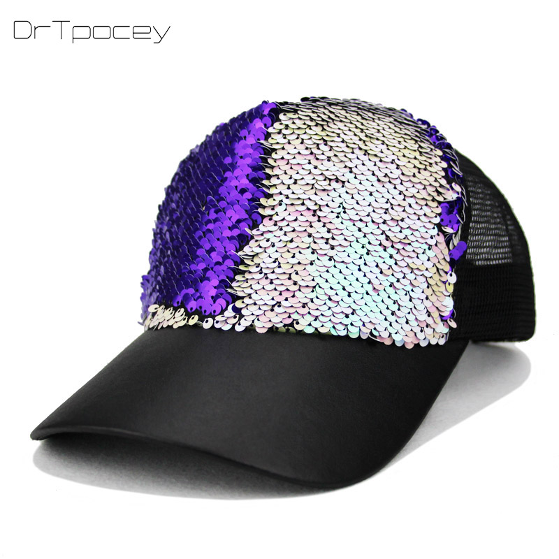 New Fashion Baseball Cap Women's Adjustable Cap Casual Hat Reflective Sequins Fashion Snapback Summer Sun Hats Casquette Gorras baseball cap men s adjustable cap casual leisure hats solid color fashion snapback autumn winter hat