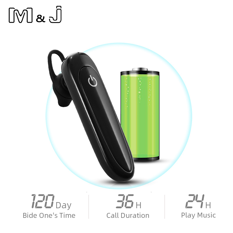 M&J Wireless <font><b>Bluetooth</b></font> <font><b>Headset</b></font> Earphone Mini Business Portable With Microphone For xiaomi huawei iPhone Driving Fone De Ouvido image