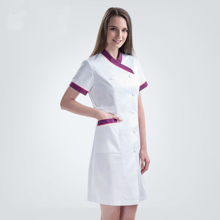a6257944b0939 New Fashion Summer Slim Fit Medical Nurse Uniform Female Doctors Dress  Comfort Nice Beauty Salon Workwear