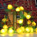 3 Meter Rose Flower 20 LED String Lights Battery Power Fairy Light Wedding Bedroom Party Christmas Room Decor Lamps DC4.5V