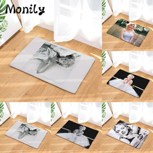 Monily Hot Welcome Waterproof Floor Mat Marilyn Monroe Kitchen Rugs Bedroom  Carpets Decorative Stair Mats Home Decor Crafts