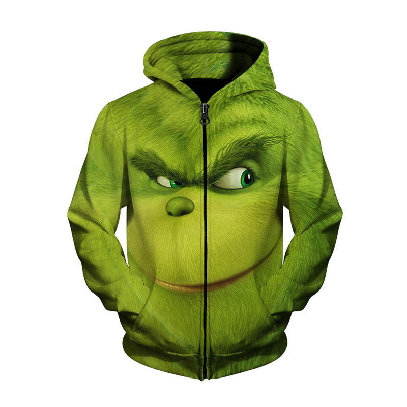 Grinch Full Face Hoodies