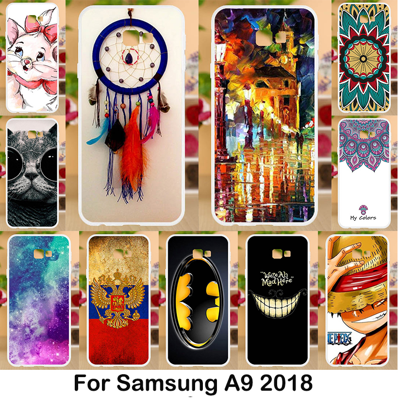 A9S 6.3'' For Samsung A9 2018 Case Silicone Soft Clear TPU Back Cover For Samsung Galaxy A9 2018 Case Slim 9 A A9 A920 A920F