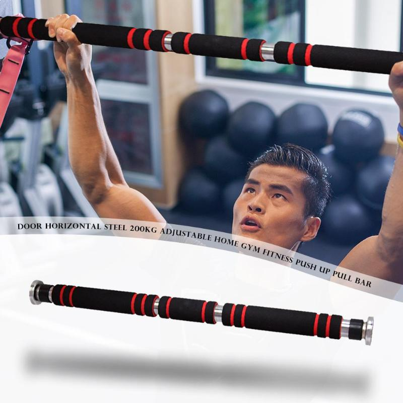 Door Horizontal Pull Up Bars With Anti Skid Rubber And Frosted Foam For Gym Workout 10
