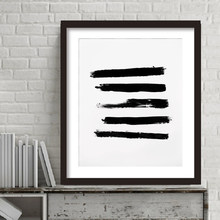 Black and White Abstract Brush Prints and Poster Canvas Wall Art Oil Paintings Wall Pictures for Living Room Home Decor No Frame(China)