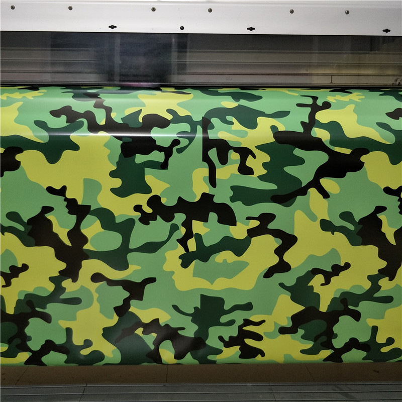 5/10/15/20/25/30X1.52M Camo Car Vinyl Wrap Bubble Free For Vehicle Graphics green black yellow camouflage Car Wrapping Film Foil totem 15 2016 green black