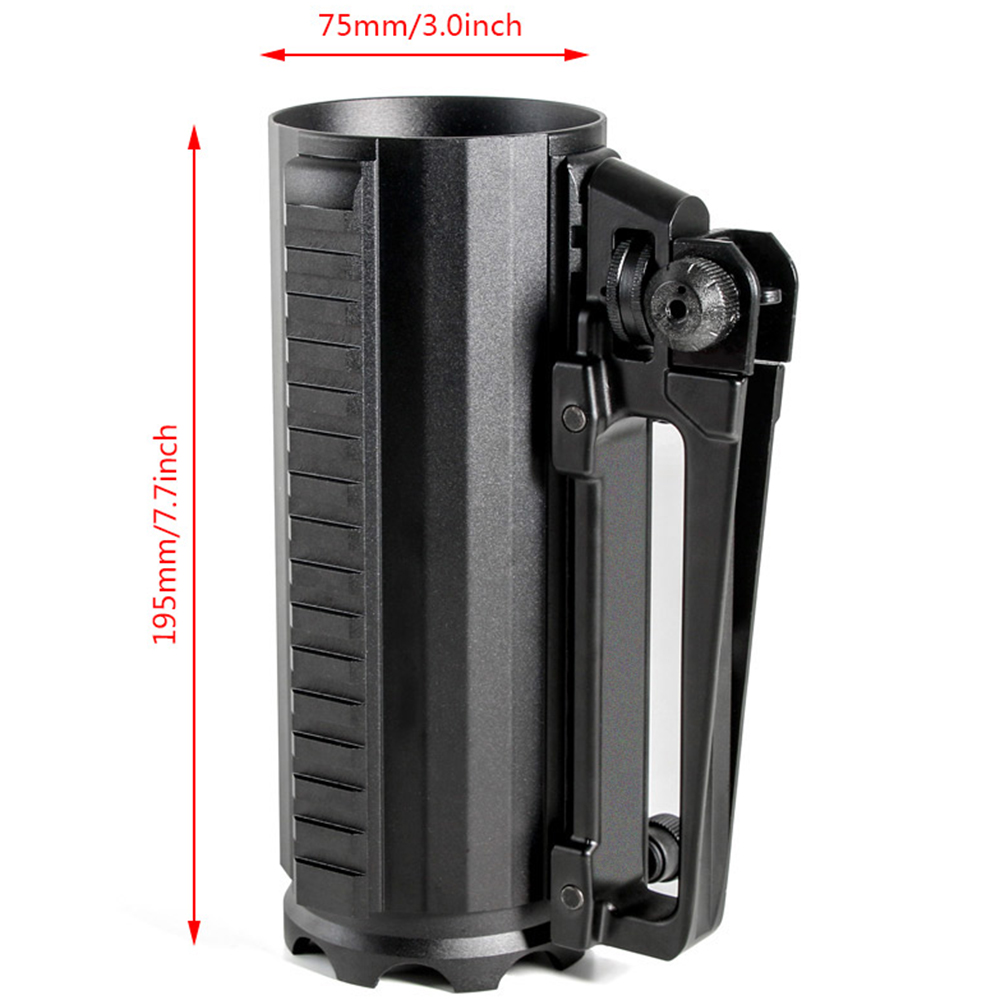 Tactical Rail Battle Beer Mug Cup Aluminum Camping Military Multi Function Carry Cup Handle Detachable Coffee