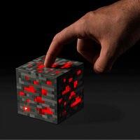 Новый Minecraft загорается красный камень руды площадь Minecraft ночник светодиодный Minecraft Свет Алмаза руды
