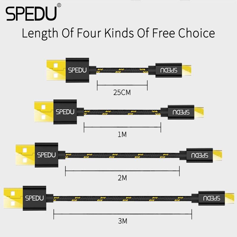 Kable USB w oplocie nylonowym firmy Spedu już od 95gr - AliExpress