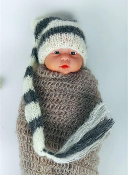 mohair hat vânzare fierbinte! Nou-nascuta Mohair pălărie lungă - Haine bebeluși
