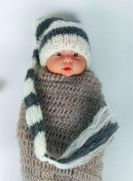mohair hat hot sale! Նորածին Mohair- ի երկար պոչ - Հագուստ նորածինների համար - Լուսանկար 1