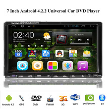 Free Camera Car DVD Player GPS Navigation CD Radio Android WiFi USB Map 3G Bluetooth TV In dash 2Din Universal Interchangeable
