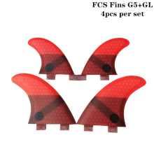 2019 New FCS G5+GL in per set 4 Colors Honeycomb Upsurf logo Surfboard Quad fin sets