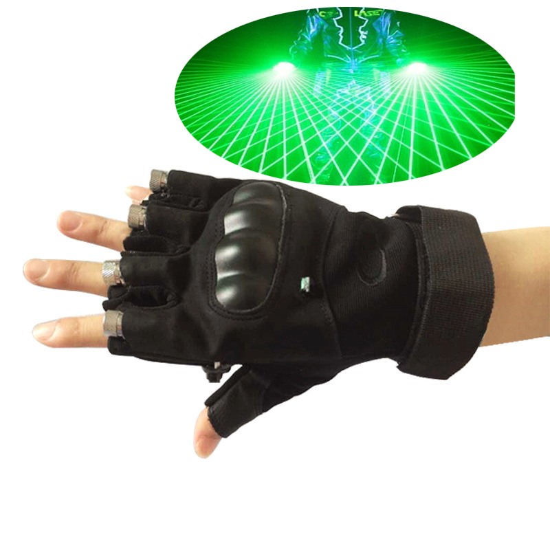 drop ship Red Green laser stage DJ KTV laser gloves for Stage Lighting Effect party show disco light novelty led laser gloves green red led bulb with battery dance show finger gloves laser for disco music party stage lighting