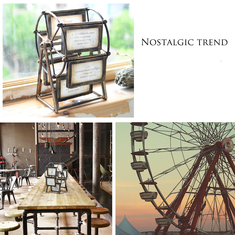 Retro riesenrad bilderrahmen tabelle kreative windmühle photo frame ...