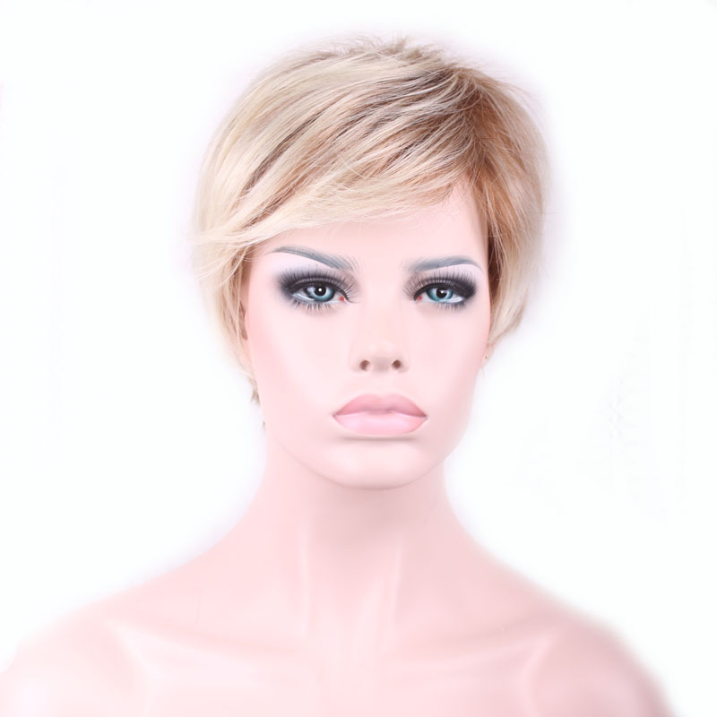 pixie haircut wigs 26 cm new stylish synthetic wigs pixie cut wig 5341 | 26 cm New Stylish Synthetic Wigs Pixie Cut Wig Short Straight Hair Wig for Women Glamorous