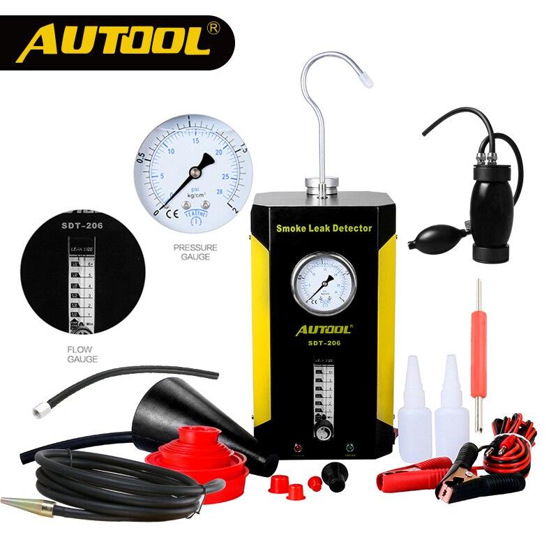 Autool 12 V Auto Automotive Rook Machine Pijp Smog Generator Lek Detecteren Lekkage Detector Diagnostische Auto Reparatie Sdt106 202 206