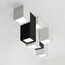 Modern brief acrylic creative combination of geometric LED ceiling lighting fixture home deco personalized square ceiling lamp