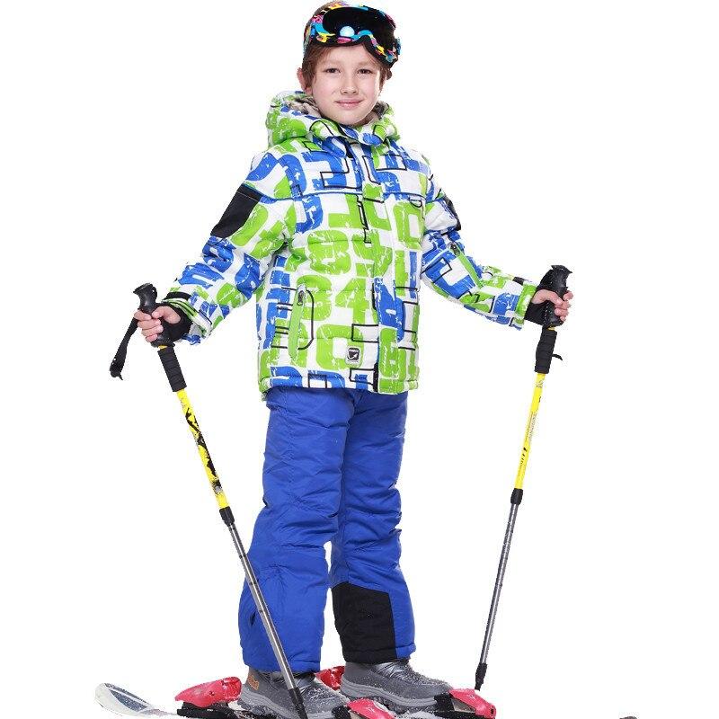 Prix pour Combinaison de ski pour enfants costume commerce extérieur de l'original unique-rembourré manteau d'hiver plus épais, plus chaud Vestes