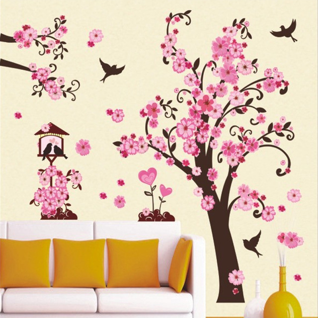 New Arrivals DIY Wall Art Decal Decoration Fashion Romantic Flower ...