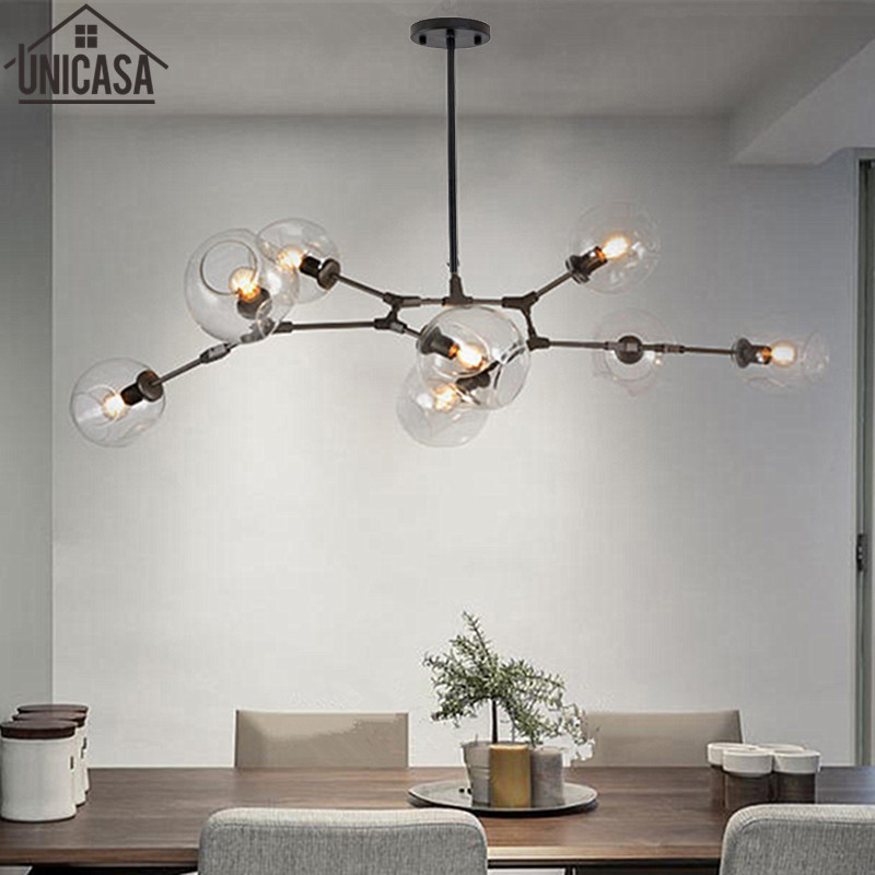 Black celling lamp Modern pendant light kitchen for home decoration  lighting Bar elegant lights Postmodern  glass lamps e26 e27 socket pendant lamp modern pendant lights lamp 110 220v classic pendant light for home coffee bar lighting decoration