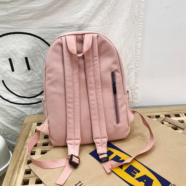 2020 Backpack Women Backpack Fashion Women Shoulder Bag solid color School Bag For Teenage Girl Children Backpacks Travel Bag 3