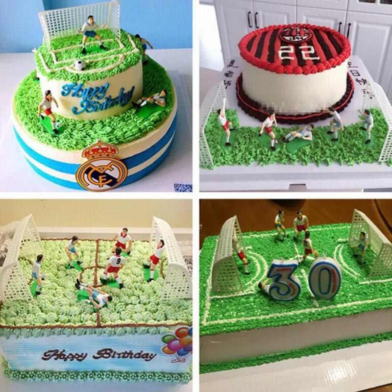 1 Juego De Fútbol Pastel Topper Pastel De Cumpleaños Niños