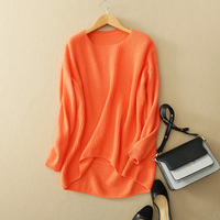 4 Colors 100 Cashmere Women S Pullovers O Neck Full Sleeve Sweaters Winter Autumn Spring Asymmetry