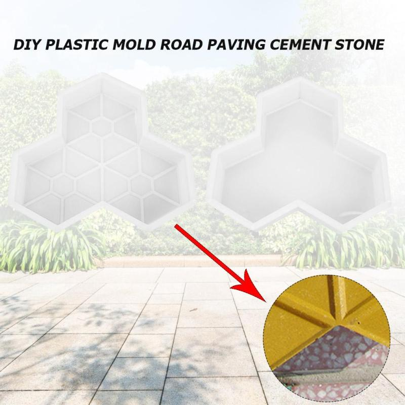 cheapest Concrete Mold Pavement DIY Plastic Path Maker Mold Paving Cement Brick The Stone Road Paving Moulds Tool For Garden Decoration