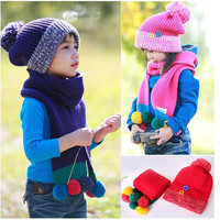 2013 Winter Lovely Snowman Hat Wholesale Knitted Scarf Hat Set For 2 6 Years Kid Boy