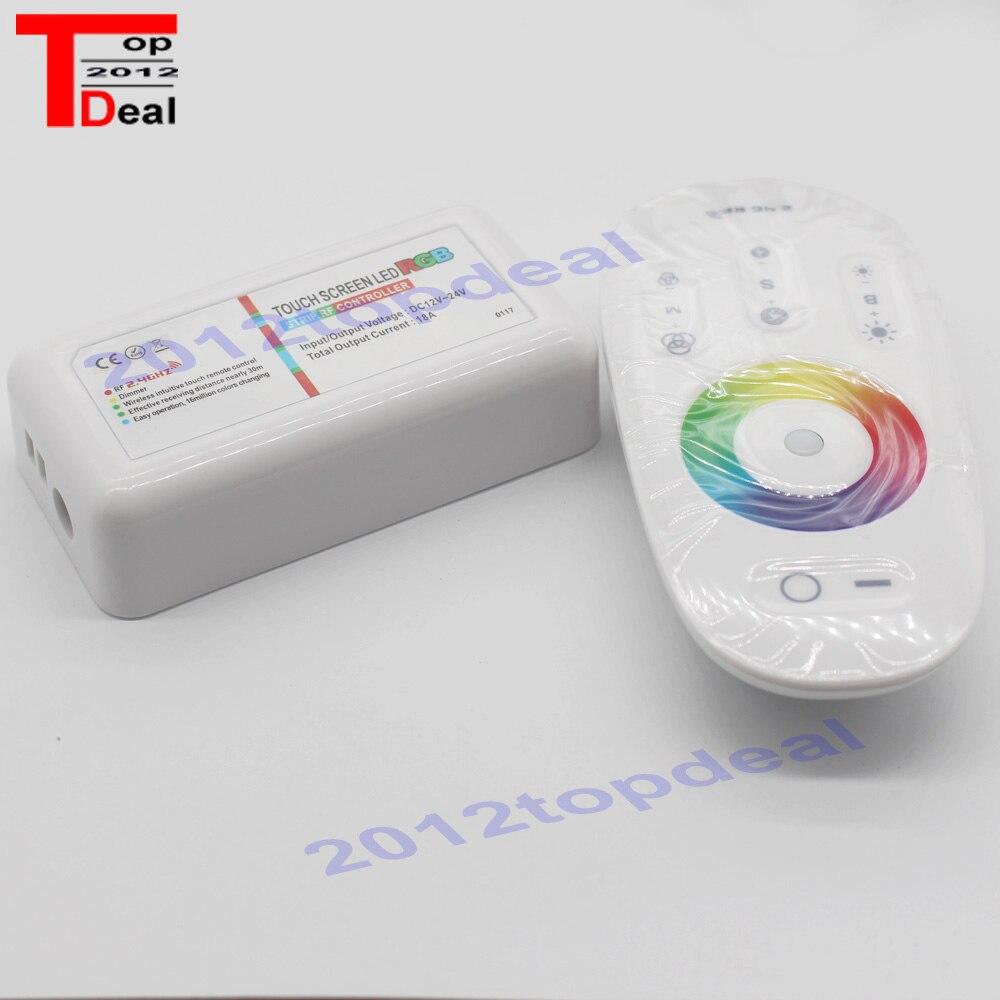 Beleuchtung Zubehör Touch Screen Led Rgb Controller 2,4g Wireless Dc12-24v Touch Rf Fernbedienung Für Rgb Led Streifen