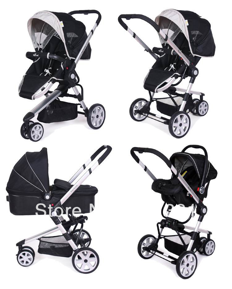 2015 New Style Infant Carriage 3 In 1 With Car Seat Bassinet For Baby Different Age Range Colors Option Stroller Three Wheels